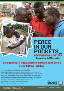 Peace in our pockets poster